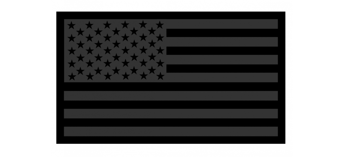 American Flag Black on Black Patch